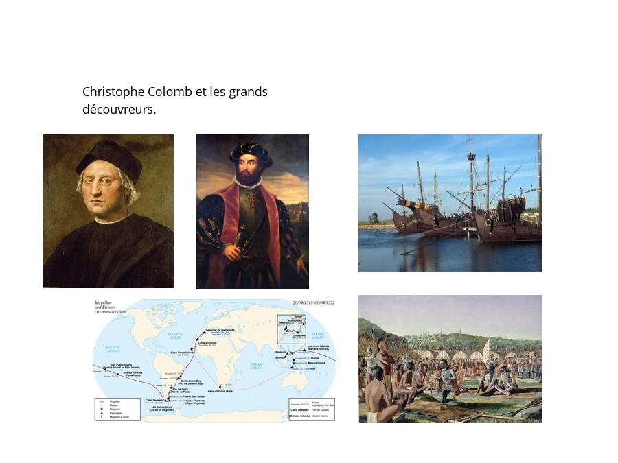 Christophe Colomb et les grands découvreurs