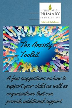 The Anxiety Toolkit - A Guide for Parents and Carers
