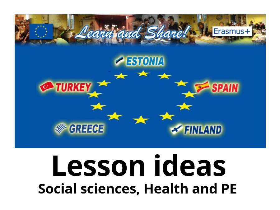 Lesson ideas: Social sciences, Health and PE