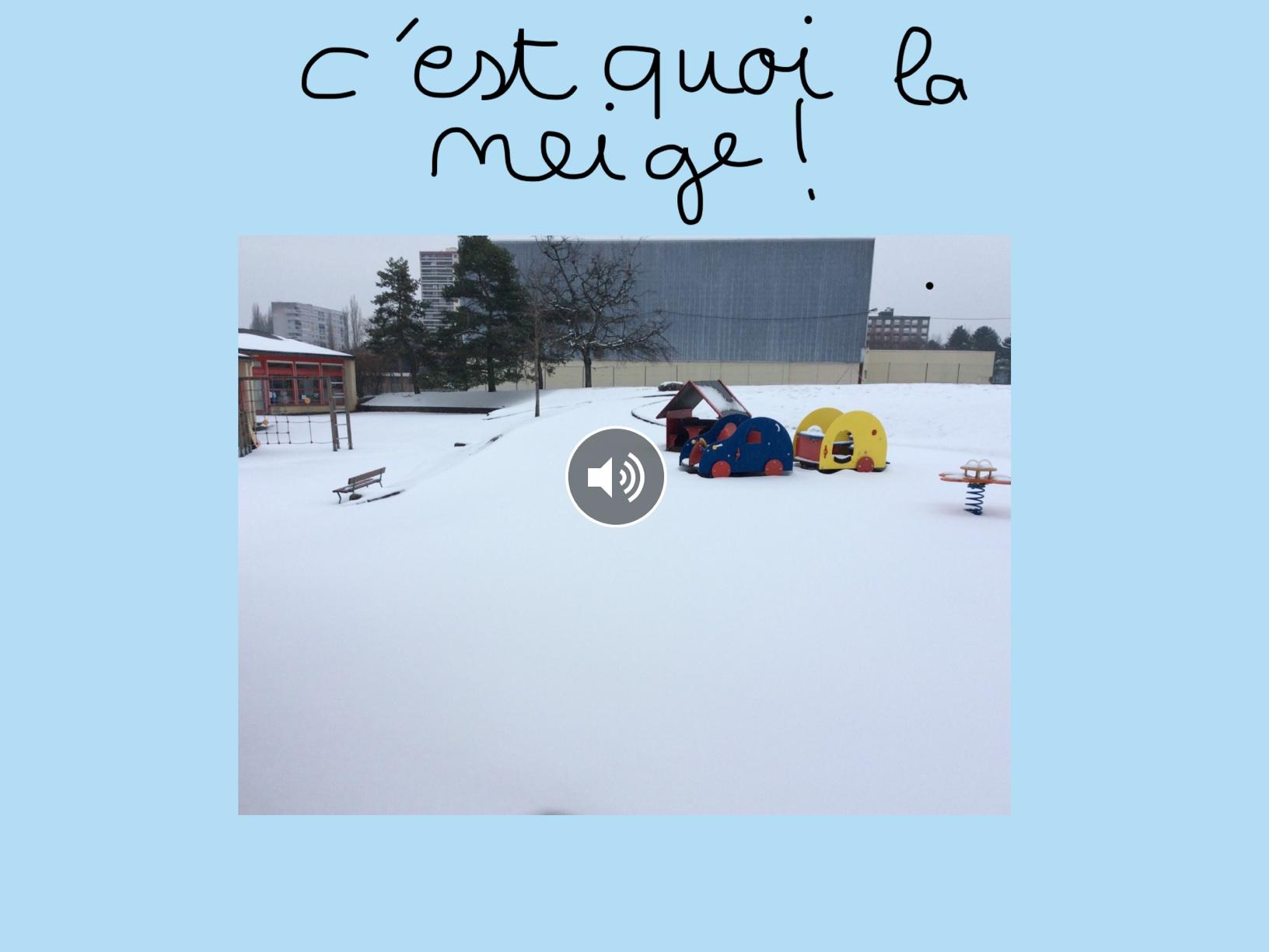 Expérience sur la neige