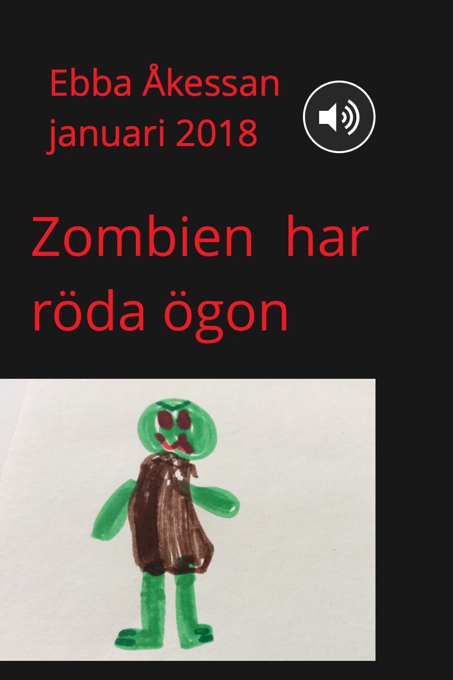 Zombien har röda ögon
