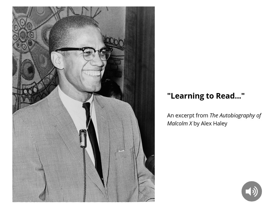 """Learning to Read..."" from Malcolm X"