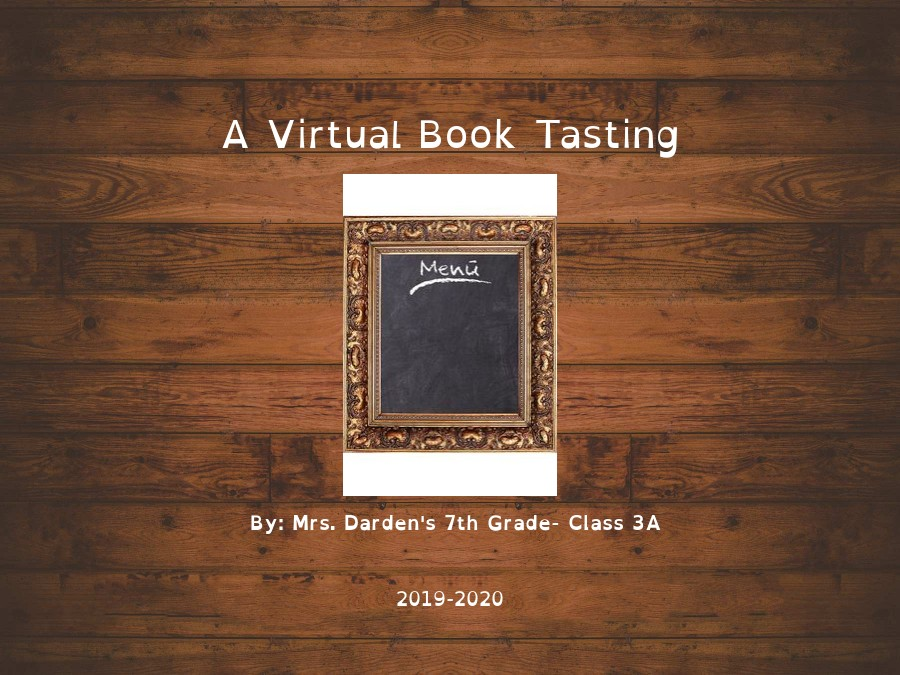 Virtual Book Tasting