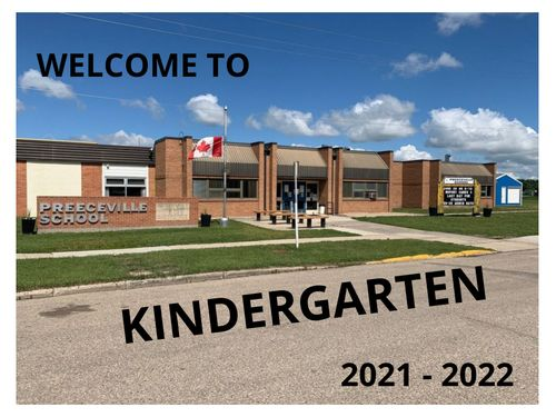 Preeceville School Kindergarten Orientation 2021-2022