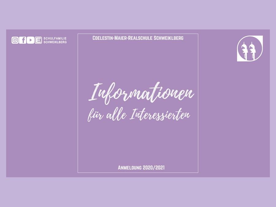 Informationen für alle Interessierten (zur Anmeldung 2020/2021)
