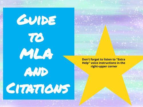 MLA and Citation Practice