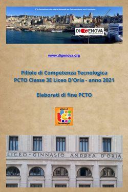 Elaborati PCTO Classe 3E Liceo D'Oria 2021