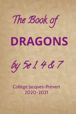 OUR BOOK OF DRAGONS