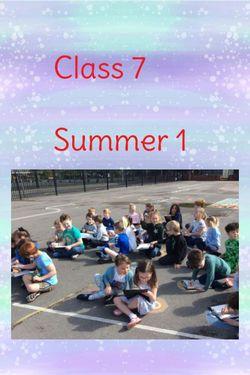 Class 7 - Summer 1