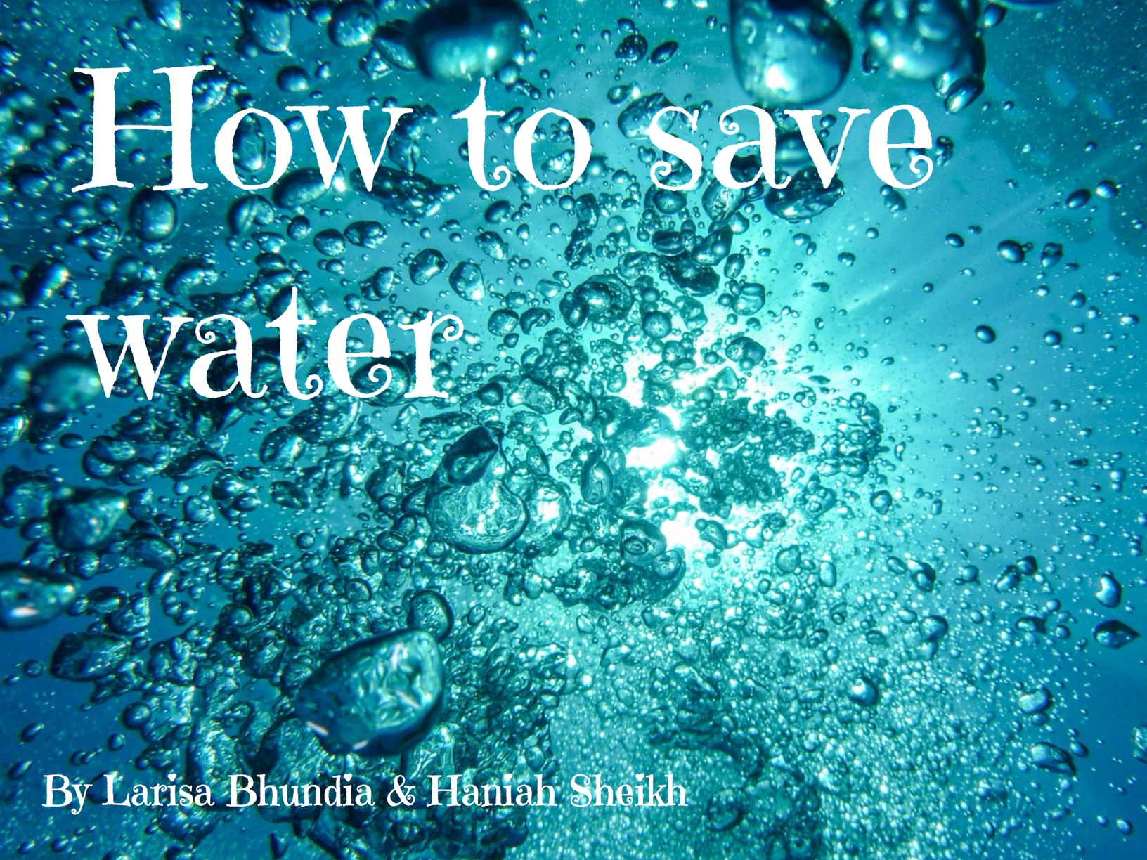How to save water