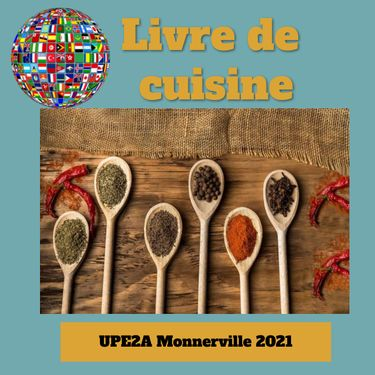 livre de cuisine UPE2A Monnerville 2021