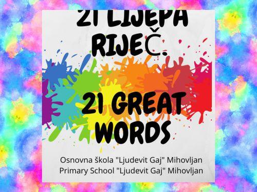 21 lijepa riječ