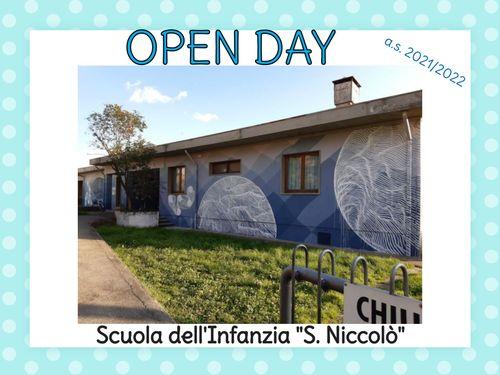 OPEN DAY  Scuola Infanzia S.Niccolò
