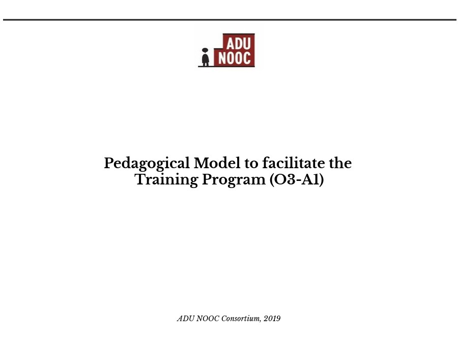 ADU_NOOC: Pedagogical Model to facilitate the Training Programme