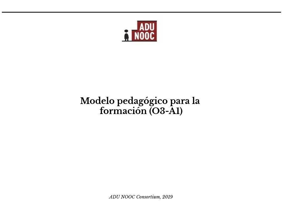 ADU_NOOC: Modelo pedagógico para la formación (SP)