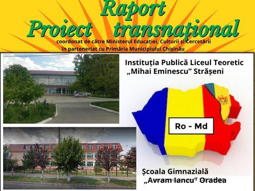 """Raport PROIECT TRANSNAȚIONAL """"URSULEȚUL DE PLUȘ"""""""