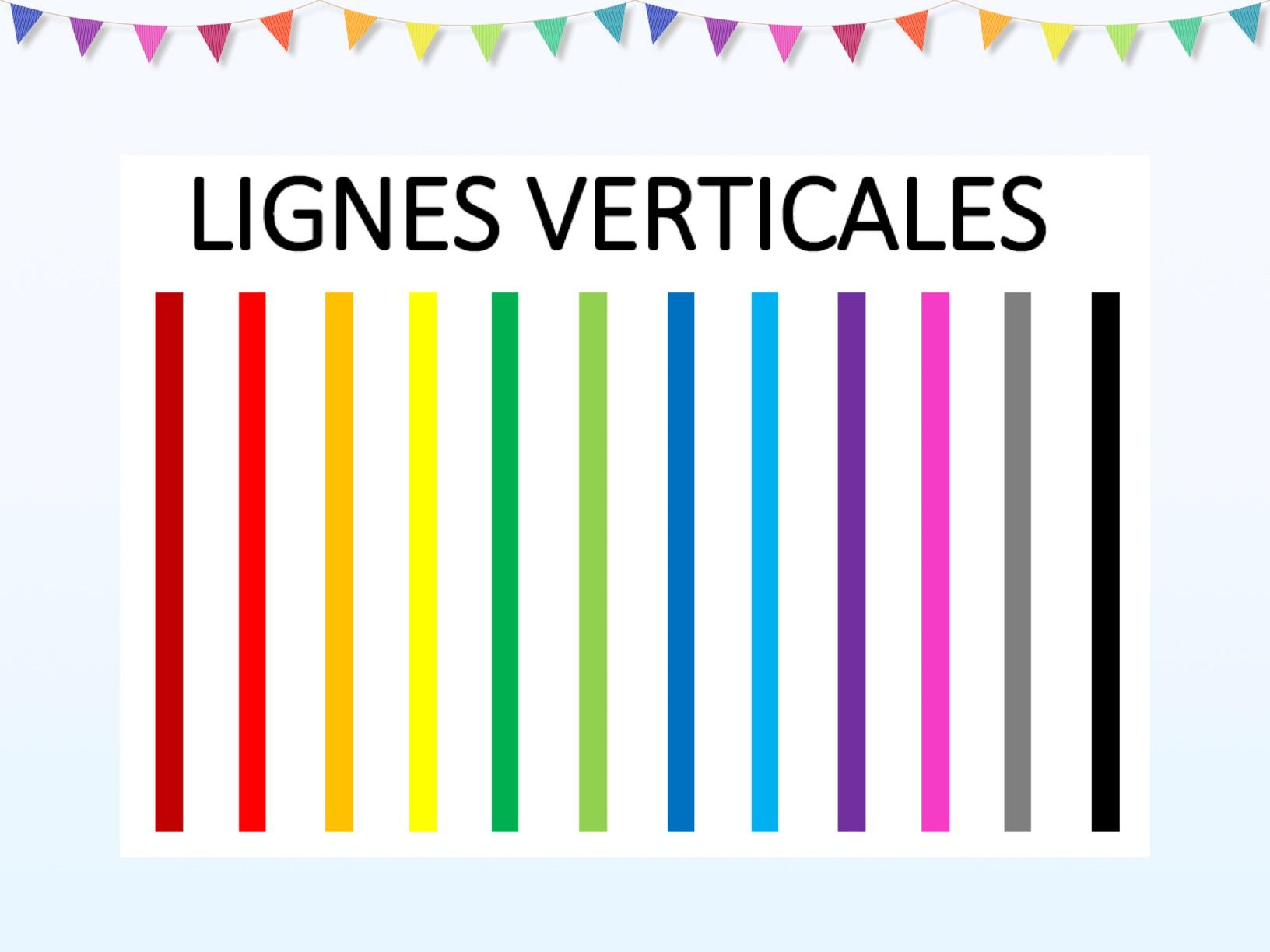 Lignes verticales