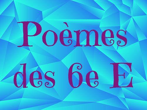 Poèmes 6eE