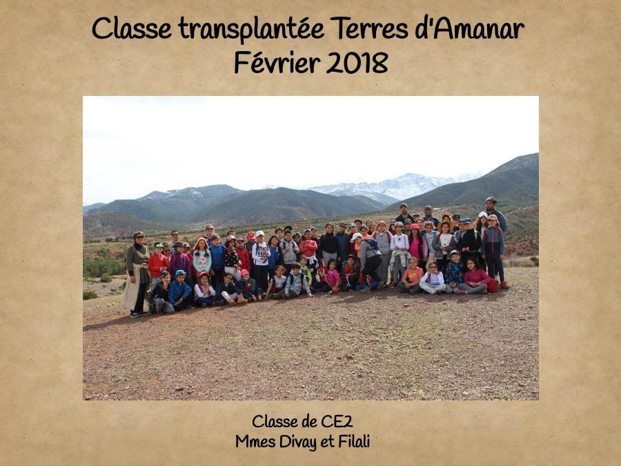 Classe transplantée Terres d'Amanar