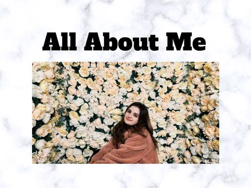 All About Me Book Project