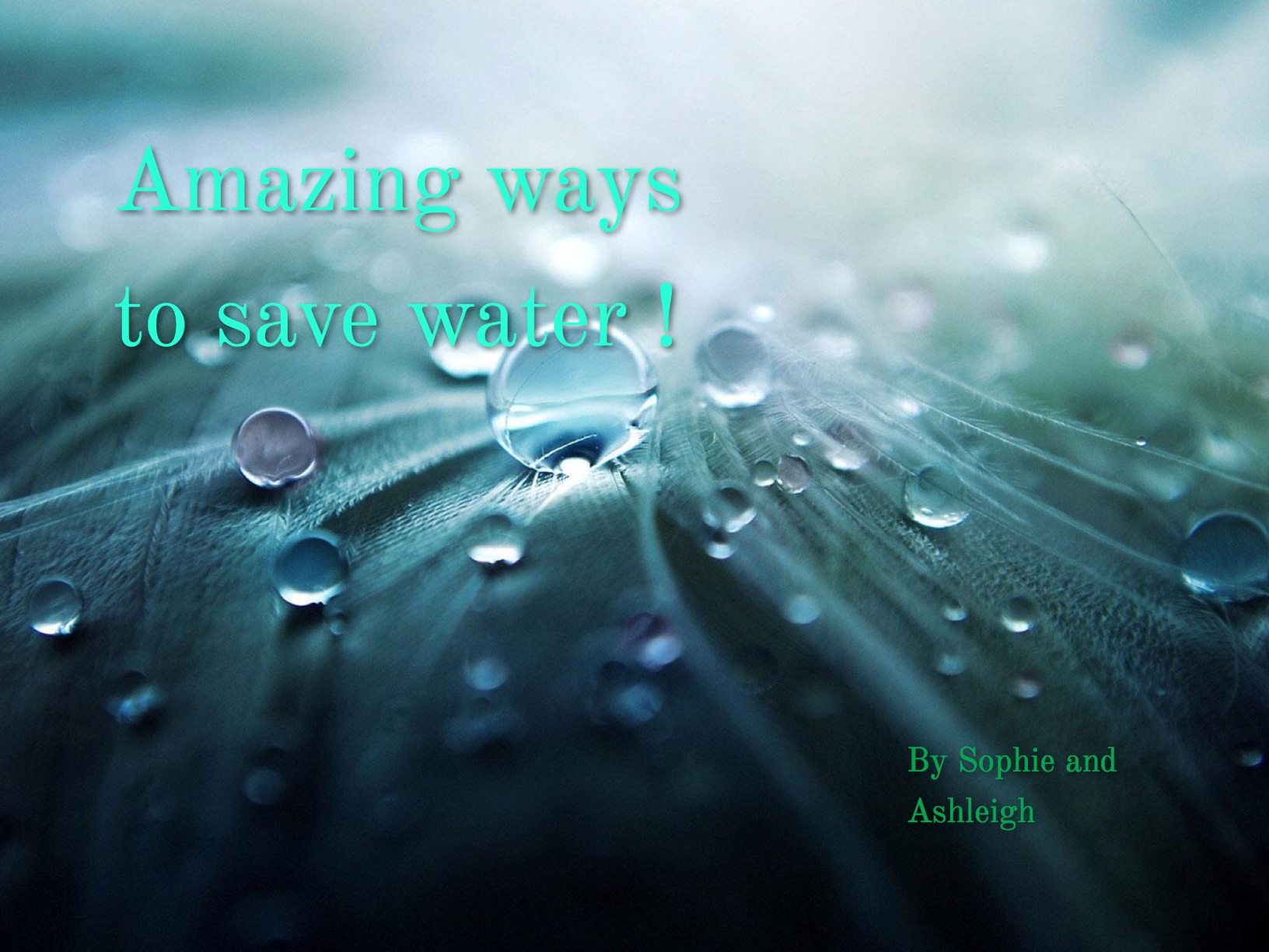Amazing ways to save water !