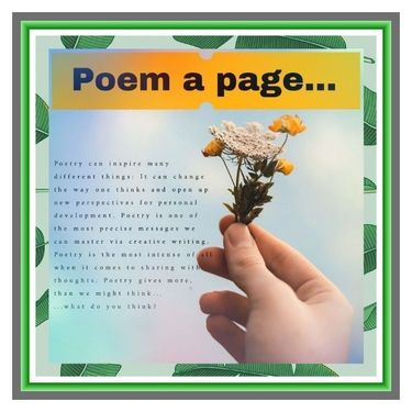 #Poem a #page...