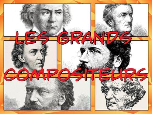 Les grands compositeurs comic